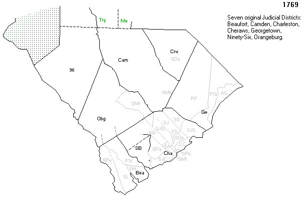 South Carolina Districts in 1769