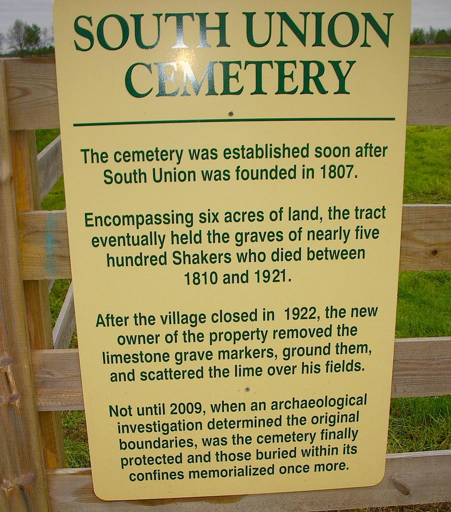 South Union Cemetery history